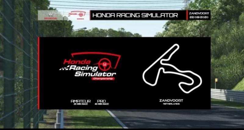 Bakal serunya seri 5 Honda Racing Simulator Championship di sirkuit Zandvoort pada Sabtu malam esok, dipanaskan persaingan di sesi latihan pada dua hari terakhir
