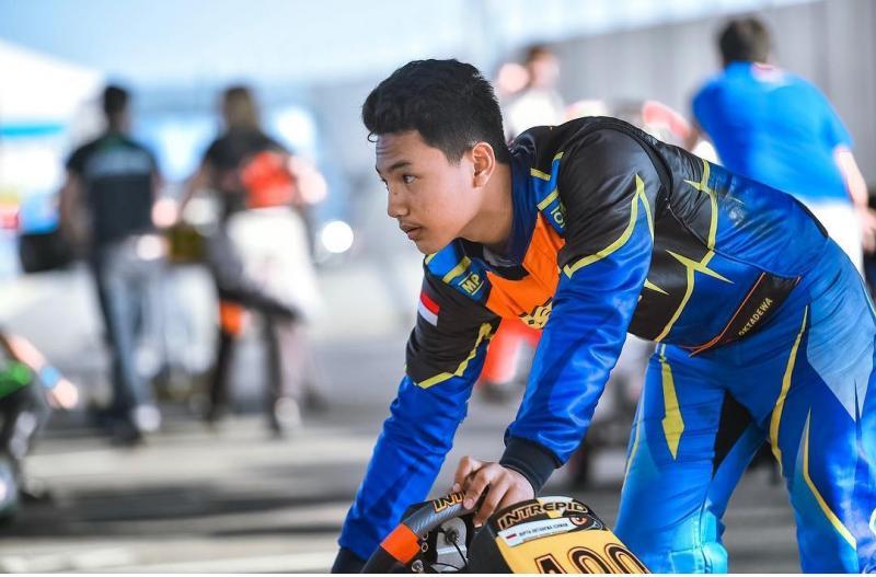 Diptya Oktadewa, akan turun di 2 kelas Latber Eshark Rok Cup di Sentul International Karting Circuit