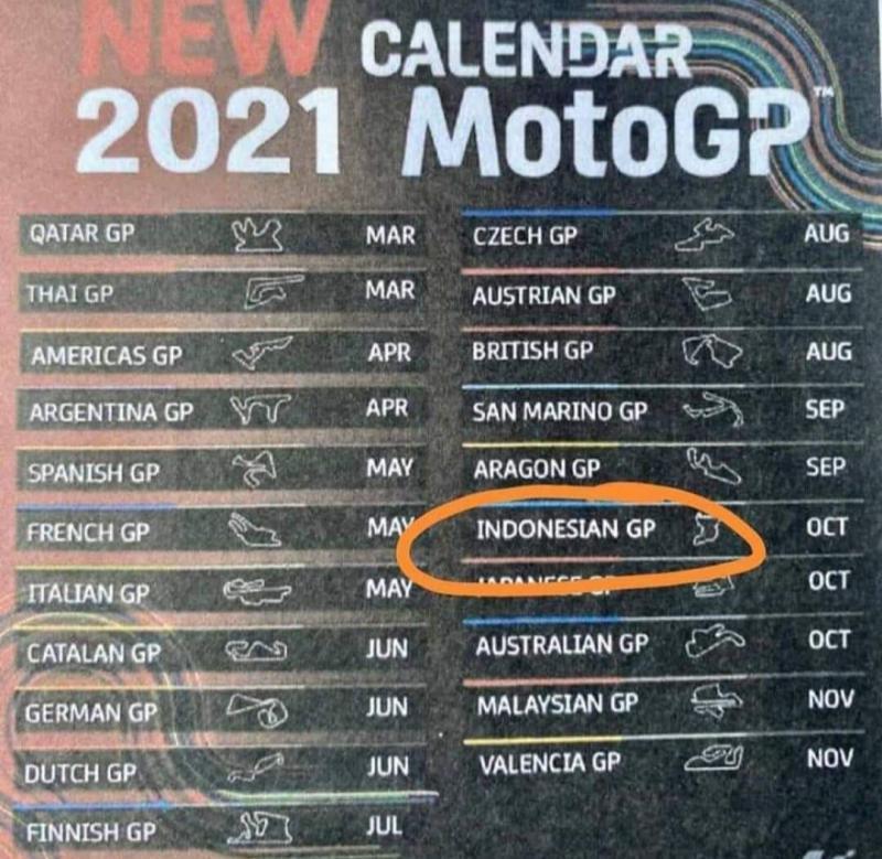 Beredar Kalender Motogp 2021 Seri Mandalika Pada Oktober Fakta Atau Hoax