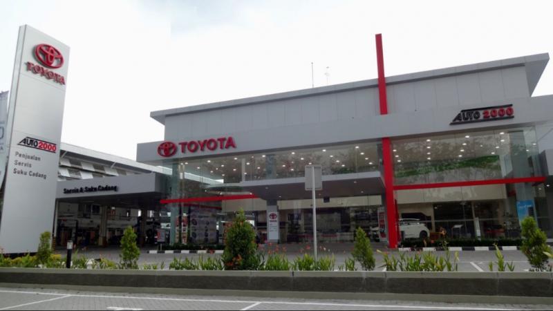 Cabang Auto2000 menyediakan kendaraan baru Toyota dan bengkel 3S.