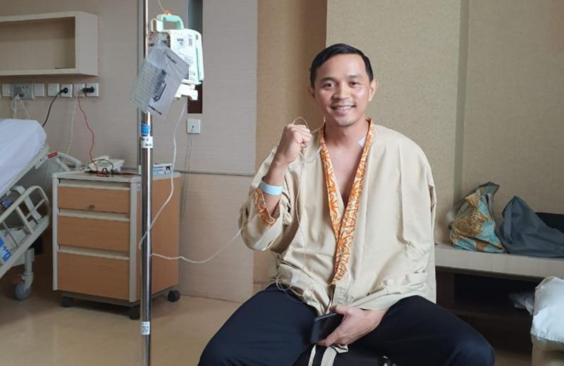 Yama Sarwono, operasi pada bahu kirinya berlangsung lancar