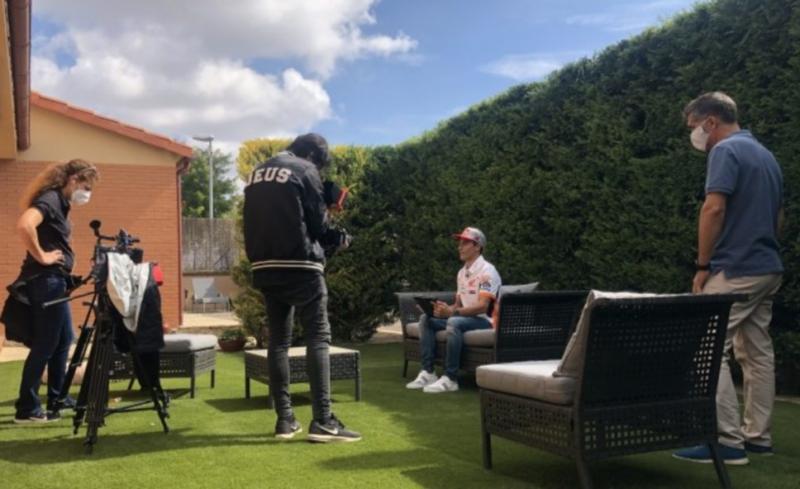 Marc Marquez (Spanyol/Honda) saat sesi wawancara khusus jelang GP Catalunya akhir pekan ini. (Foto: repsolhonda)