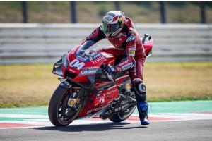 Andrea Dovizioso (Ducati), masuk Barcelona masih dengan masalah di roda belakang. (Foto: ducati)