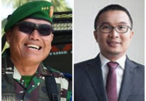 Letjen TNI AM Putranto (kiri) dan Sadikin Aksa, dua kandidat Ketum IMI Pusat periode 2020-2024