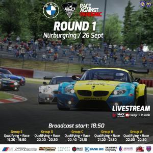 BDR Race Against Pandemic akan dimulai di sirkuit Nurburgring, Jerman nanti malam pukul 19.00 WIB di youtube Balap di Rumah