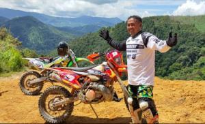 Ternyata Dandim 0305 Pasaman Letkol Inf. Ahmad Aziz penyuka trail adventure.