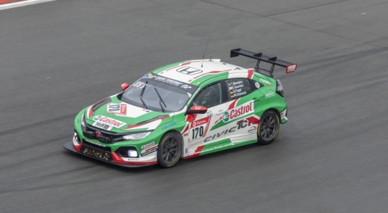 Honda Civic Type R TCR yang dipakai Tiago Monteiro dan Esteban Guerrieri di Nurburgring 24 Hours