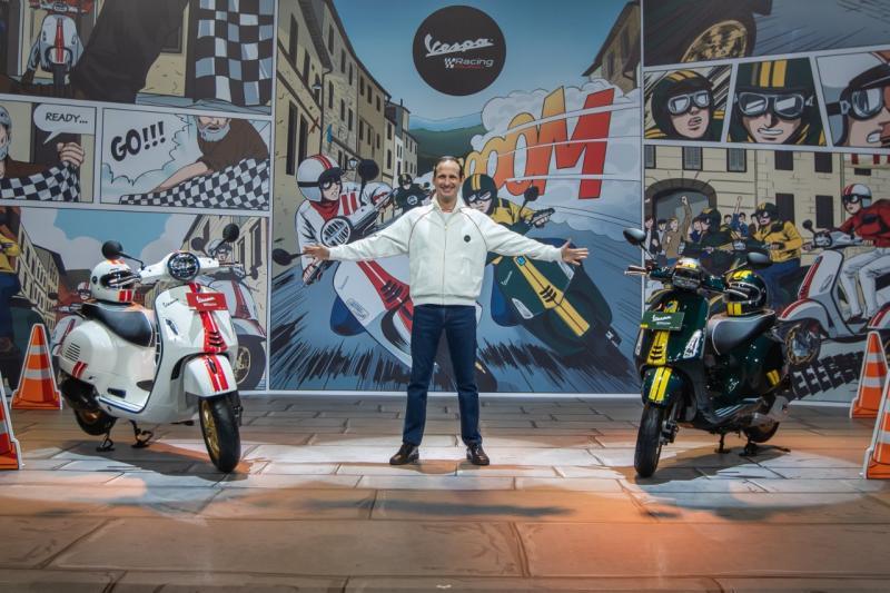 Marco Noto La Diega diantara Vespa Racing Sixties limited edition