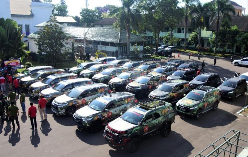 Piwaners membawa puluhan mobil dengan branding 4 desain dari Pusat Kesenjataan Infanteri, Kavaleri, Artileri Medan dan Artileri Pertahanan Udara serta 1 desain tentang Latihan Antar Kecabangan Kartika Yudha.