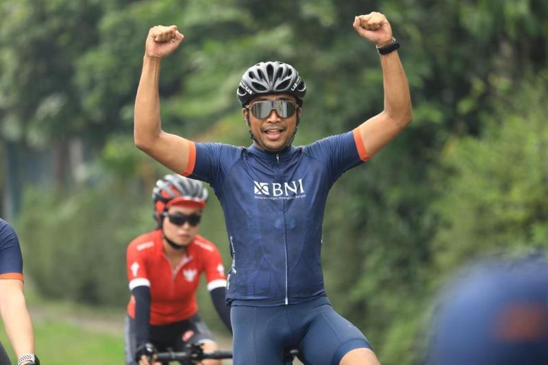 Haridarma Manoppo saat mengikuti Tour de Borobudur 2020