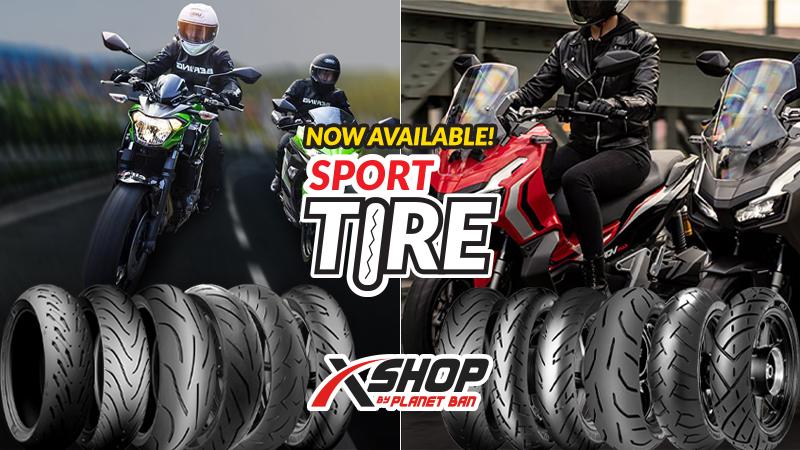 Planet Ban X-Shop tawarkan kelengkapan ban untuk motor matik