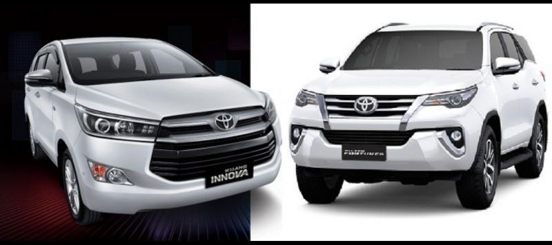 New Kijang Innova dan New Toyota Fortuner akan diluncurkan secara virtual pekan depan. (foto : ist)