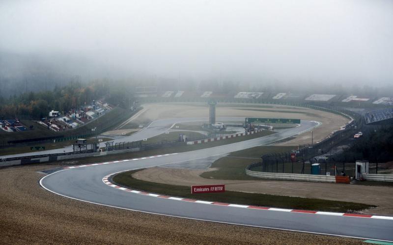 Trek Nurburgring, Jerman sepanjang Jumat (9/9/2020) tanpa deru knalpot mobil F1. (Foto: ist)