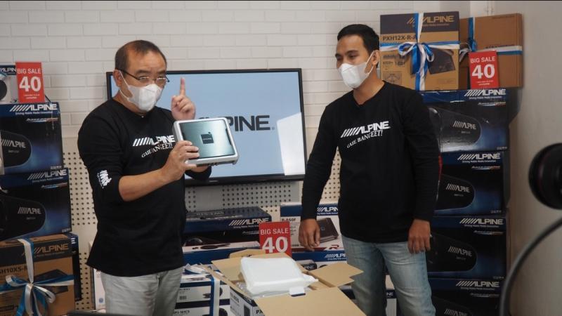 Wahyu Tanuwidjaja saat re-launching brand audio tersohor dari Jepang, Alpine kemarin