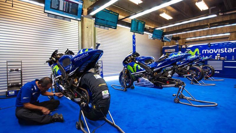 Garasi tim Yamaha di kancah MotoGP, bakal sepi tanpa Valentino Rossi di sini. (Foto: ist)