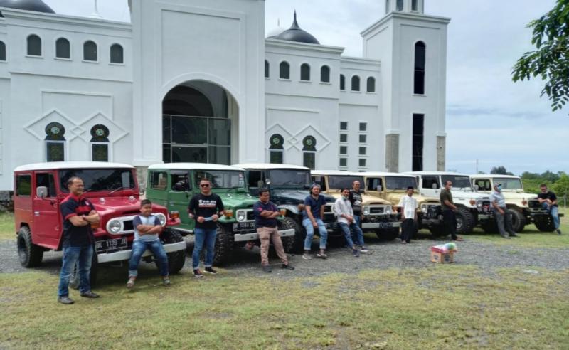 Hadirnya Toyota Hardtop Aceh disambut antusias pecinta FJ & BJ. (foto : ist)