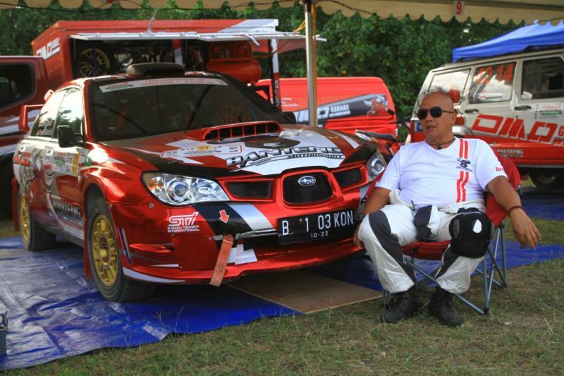 Donny Oekon saat mengikuti Tropical Sprint Rally 2020 di Tanjung Lesung Banten