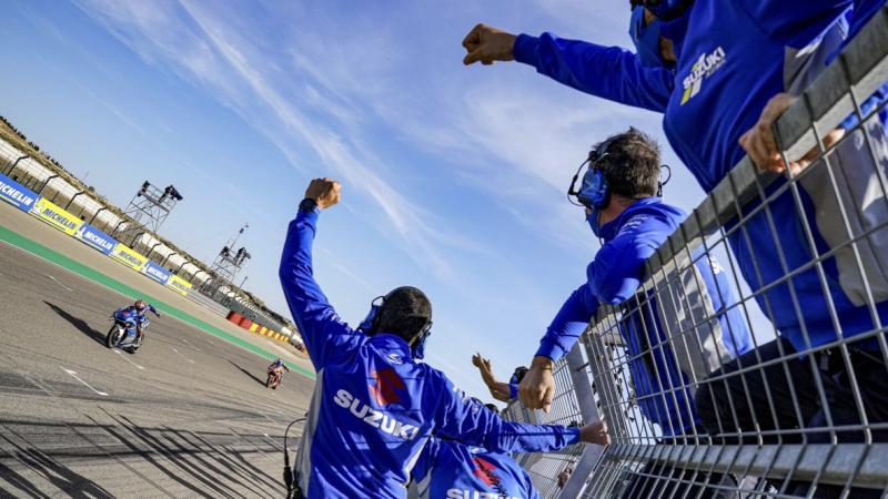Kemenangan perdana Suzuki musim 2020 di Aragon1, bagaimana di Aragon2? (Foto: motogp)