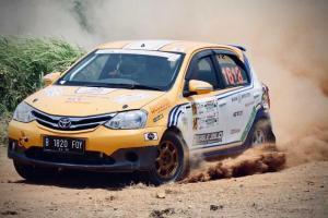 Toyota Etios Valco, mobil andalan Anjasara Wahyu di kelas F.1 yang tampil kompetitif di Tropical Sprint Rally 2020