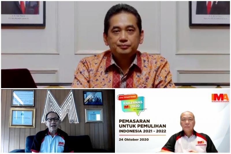 Menteri Perdagangan Agus Suparmanto (atas), Suparno Djasmin dan Hermawan Kertajaya