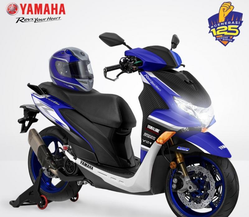 Desain karya Andrianus Harsono yang menjadi salah pemenang Yamaha Digital Custom Generasi 125
