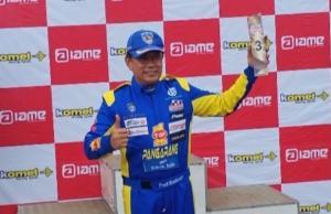 Fredi Rostiawan, pembalap serbabisa yang juga promotor Meikarta 3in1 akhir pekan ini.
