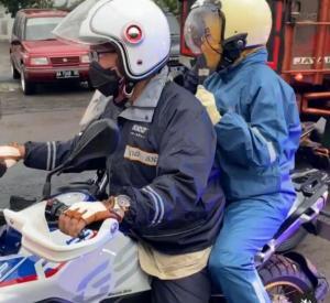 Gubernur Ridwan Kamil boncengin istri dengan BMR R 1250 GS Adventure ke Semarang