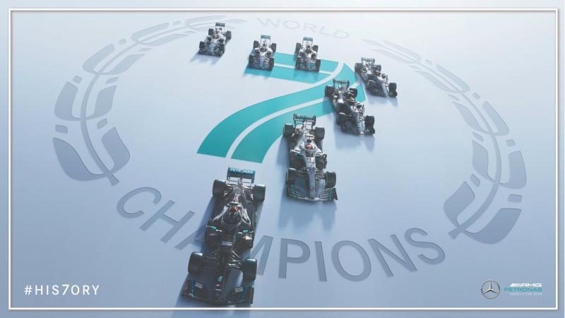 Mercedes pastikan gelar konstruktor 2020 meski tersisa 4 race. (Foto: ist)