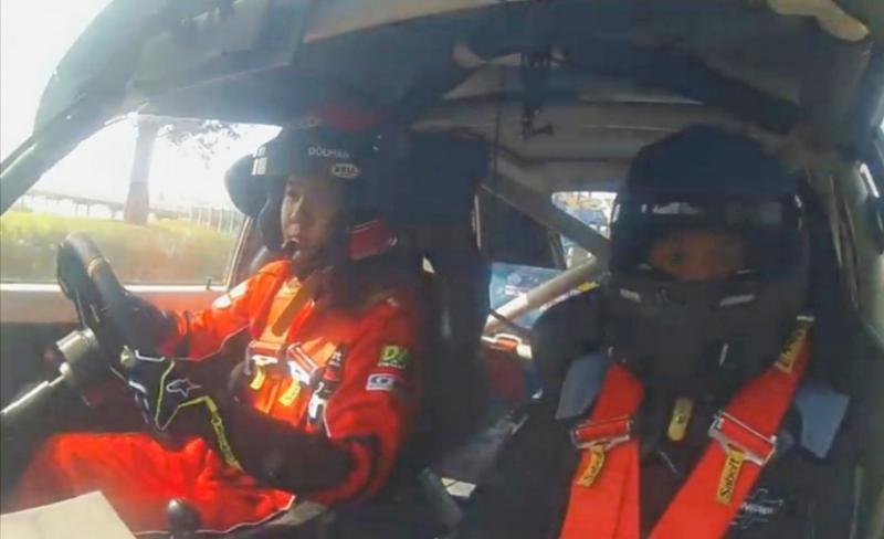 Zinedine Doohan dengan navigator Nova Aska berjuang extra keras di Meikarta Sprint Rally