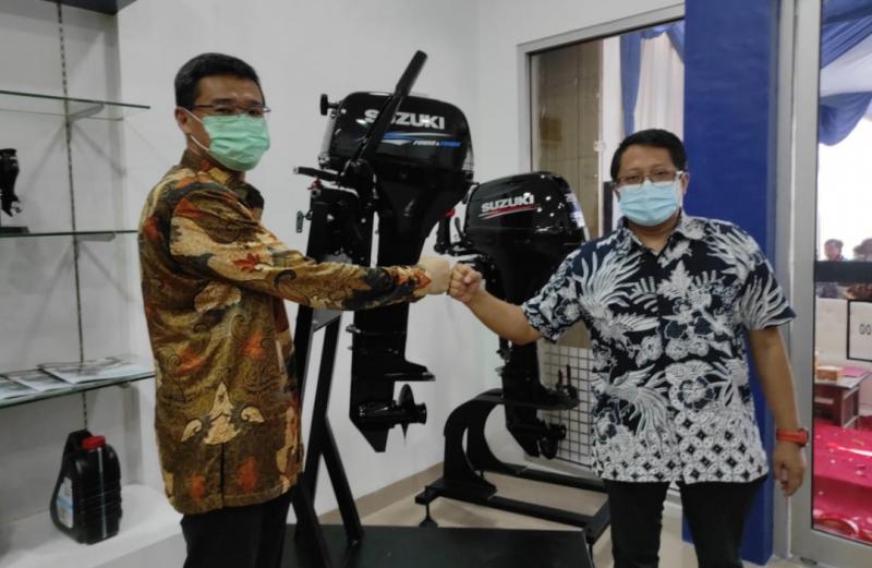 Peresmian dealer baru Suzuki Marine di Cilacap, Jawa Tengah untuk penjualan mesin tempel kapal