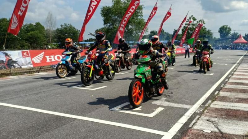 Suara knalpot motor balap kembali bergema di Bangkinang.