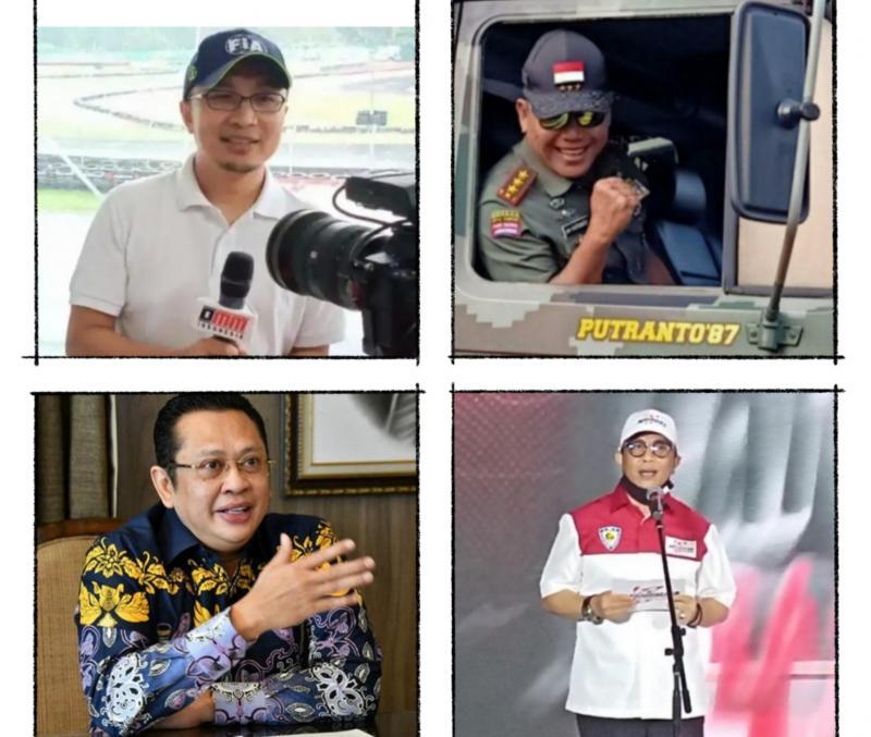 Searah jarum jam, dari kiri atas : Sadikin Aksa, Letjen TNI AM Putranto, Rapsel Ali dan Bambang Susetyo. (foto : kolase)