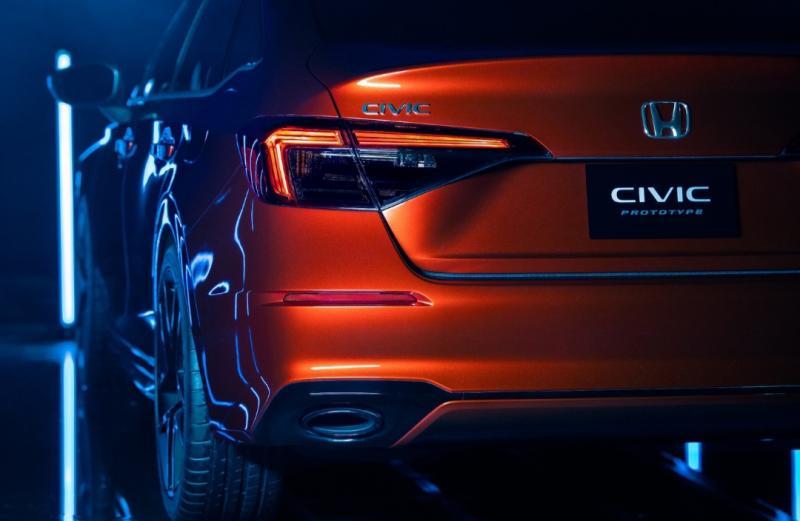 Honda Civic generasi ke-11 ditampilkan dalam bentuk prototipe