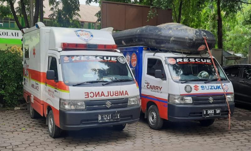 Dua unit Suzuki Club Reaksi Cepat peduli antisipasi banjir Jabodetabek