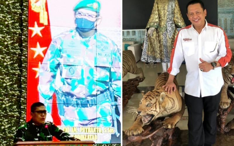Letnan Jenderal TNI AM Putranto (kiri) dan Bambang Soesatyo, sama-sama mengklaim didukung 20an IMI Provinsi se-Indonesia. (Foto : kolase)