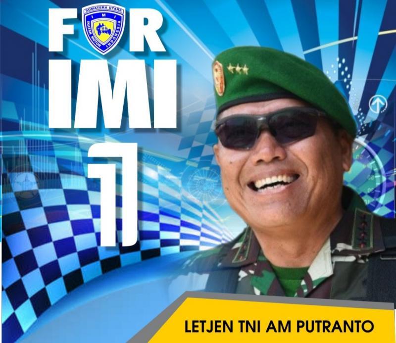 Kandidat Ketum IMI Pusat Letjen TNI AM Putranto, bangga dengan soliditas teman-teman IMI Provinsi se-Indonesia untuk kemajuan IMI ke depan