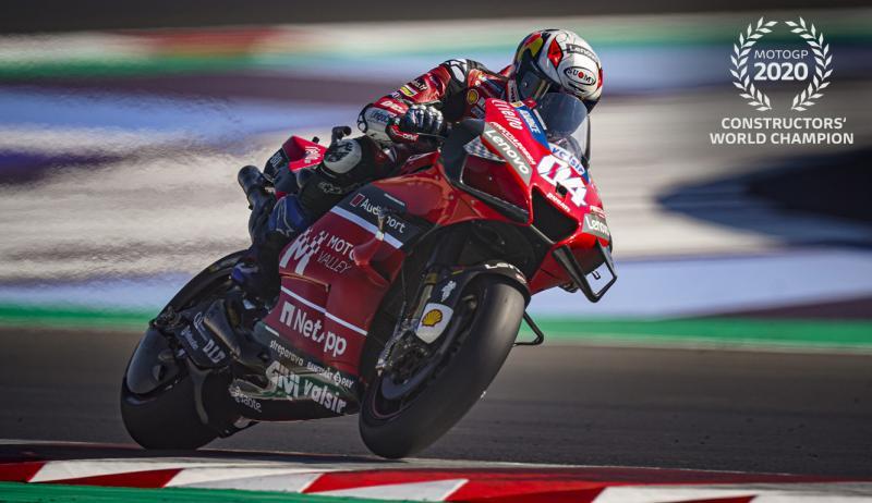 Kebanggaan Ducati jadi juara dunia konstruktor 2020 yang sesungguhnya ditentukan oleh tim satelitnya. (Foto: ducati)