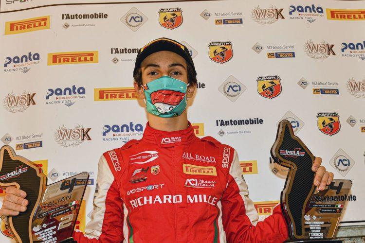 Gabriele Mini, bocah 15 tahun juara F4 Italia 2020. (Foto: motorsportweek)
