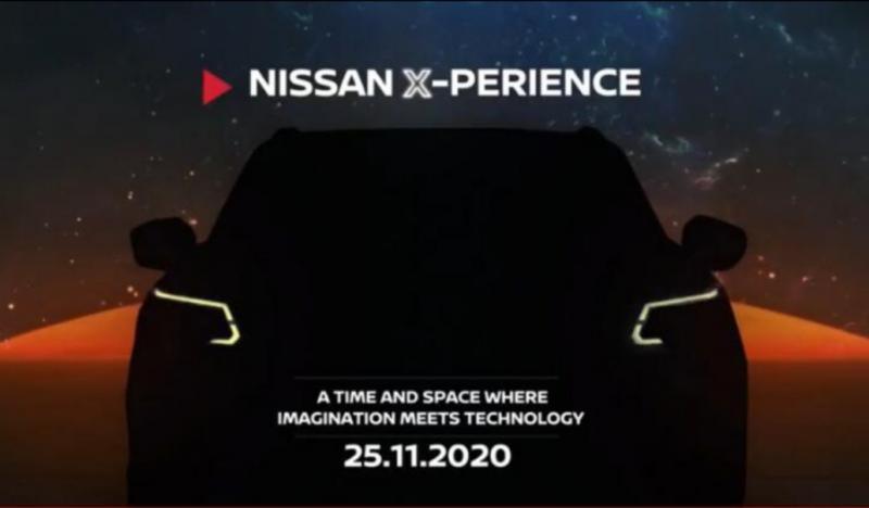 Petunjuk berbentuk teaser dengan gambar siluet sebuah mobil SUV, diperkirakan pembaruan dari Nissan Terra (facelift)