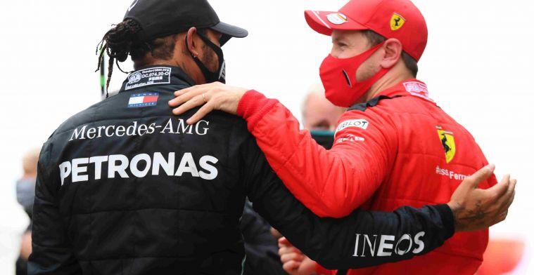 Lewis hamilton (Inggris/Mercedes) dan Sebastian Vettel (Jerman/Ferrari). (Foto: ist)
