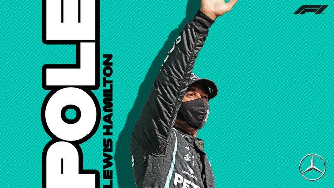 Pole position ke-98 Lewis Hamilton di F1, potensi digenapkan 100 pada tahun ini. (Foto: ist)