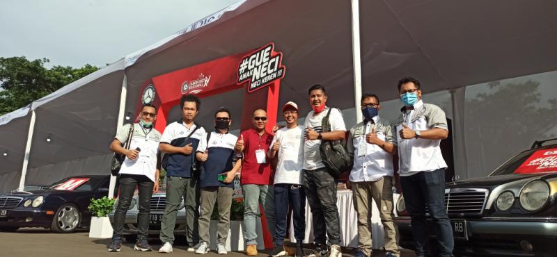 NECI tampil beda di ajang Jamnas MBCI Ke-15 di Mall Alam Sutera Tangerang. (foto : hf)
