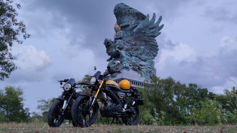 Garuda Wisnu Kencana di Bali menjadi heritage pengguna Yamaha XSR 155