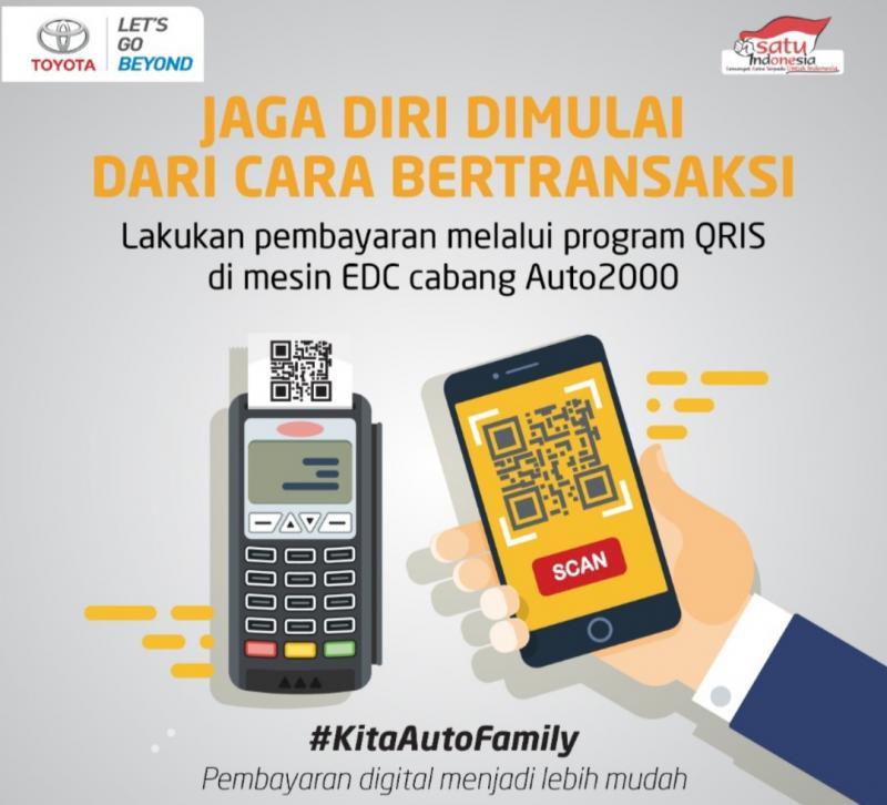 Bertransaksi dengan QR Code, urusan Toyota jadi mudah di Auto2000
