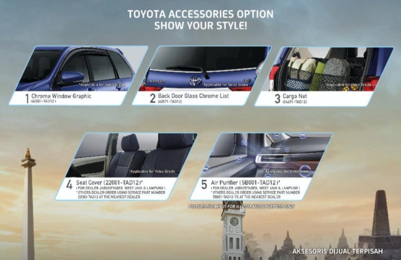 Layanan TCO memberi memberi kesempatan kepada pelanggan yang ingin tampil beda dapat memesan beragam kustomisasi aksesoris dengan kualitas terjamin dioutletresmi Toyota terdekat.