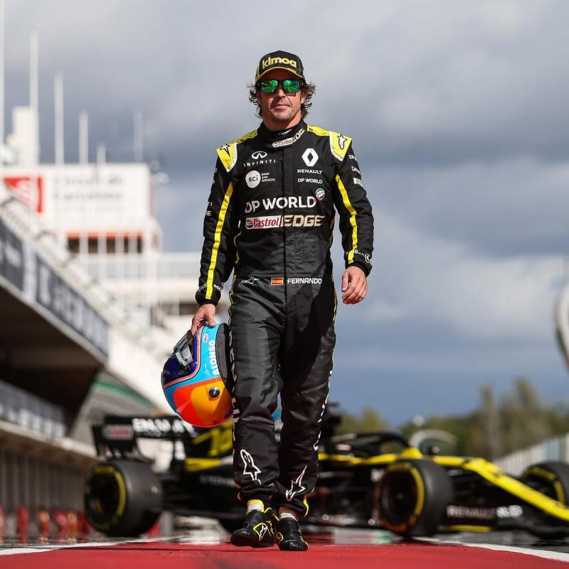 Fernando Alonso, tes Yas Marina untuk pengenalan. (Foto: gheguardian)