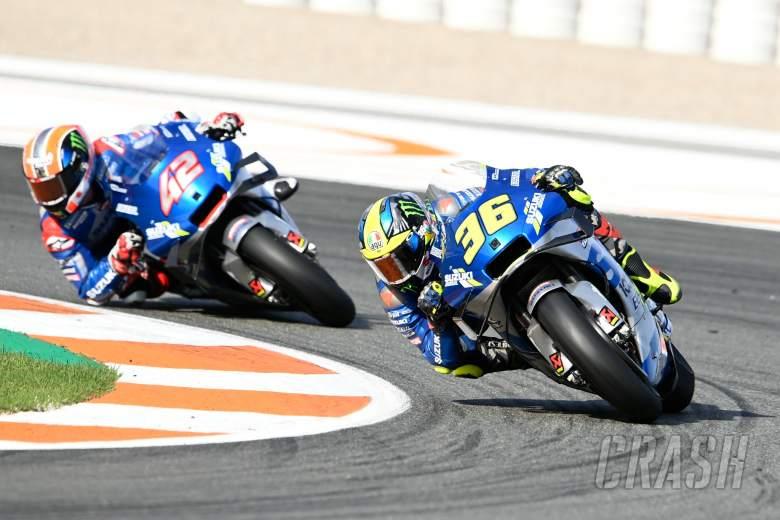 Joan Mir dan Alex Rins, duo Suzuki di atas GSX-RR yang bikin heboh MotoGP 2020. (Foto: crash)