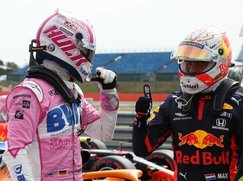 Nico Hulkenberg kala menggantikan Sergio Perez di Silverstone, cocok dengan Max Veratappen. (Foto: planetf1)