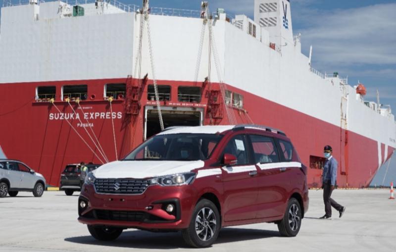 Peresmian pelabuhan Patimban Subang oleh Presiden Jokowi ditandai dengan ekspor All New Ertiga ke Brunei