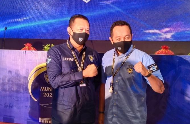 Yuliansyah dan Bambang Soesatyo, IMI Kalbar dukung penuh untuk kejayaan IMI ke depan. (foto : bs)